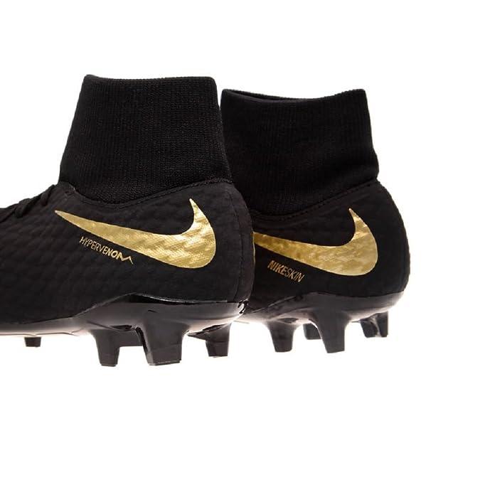 JR de Nike HYPERVENOM PHELON 3 DF FG kids soccer zapatos fútbol naranja nuevo caja original