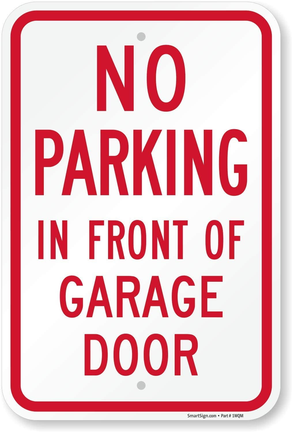 NO PARKING ACCESS SIGN Metal Simple White Driveway Reserved Garage Property