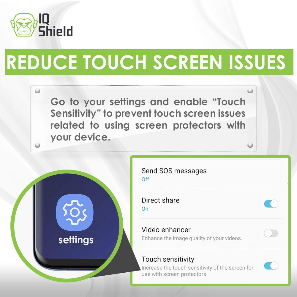 Samsung Galaxy S10 Plus Screen Protector (S10+ 6.4'')[Case Friendly](2-Packs)(Compatible w/Fingerprint ID), IQ Shield LiQuidSkin Full Coverage Screen Protector for Samsung Galaxy S10 Plus HD Clear Film by IQShield (Image #3)