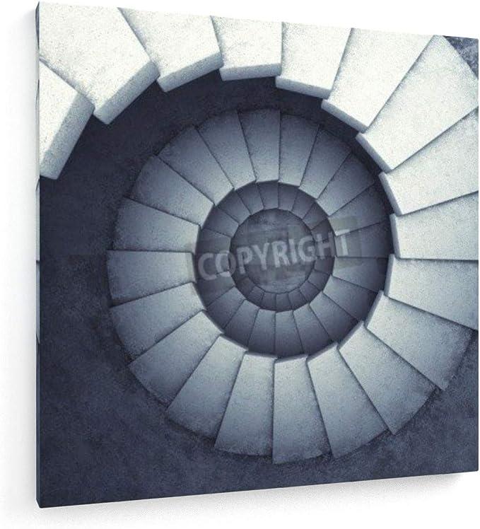 weewado Escaleras de Caracol - 40x40 cm - Impresion en Lienzo - Muro de Arte - Canvas, Cuadro, Poster - Abstract: Amazon.es: Hogar