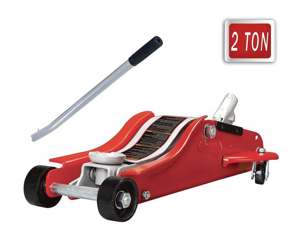 Vetrineinrete Cric per auto 2 T sollevatore idraulico a carrello con manico removibile massima altezza di alzata 359 mm per la sostituzione di pneumatici max 2 ton P43