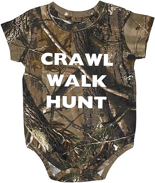 7c3dde4f1edcc Crawl Walk Hunt Realtree Camo Baby Onesie Hunting Clothing 6 Month