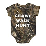 Crawl Walk Hunt Realtree Camo Baby Body Suit - Hunting Baby Clothing (24 Month)