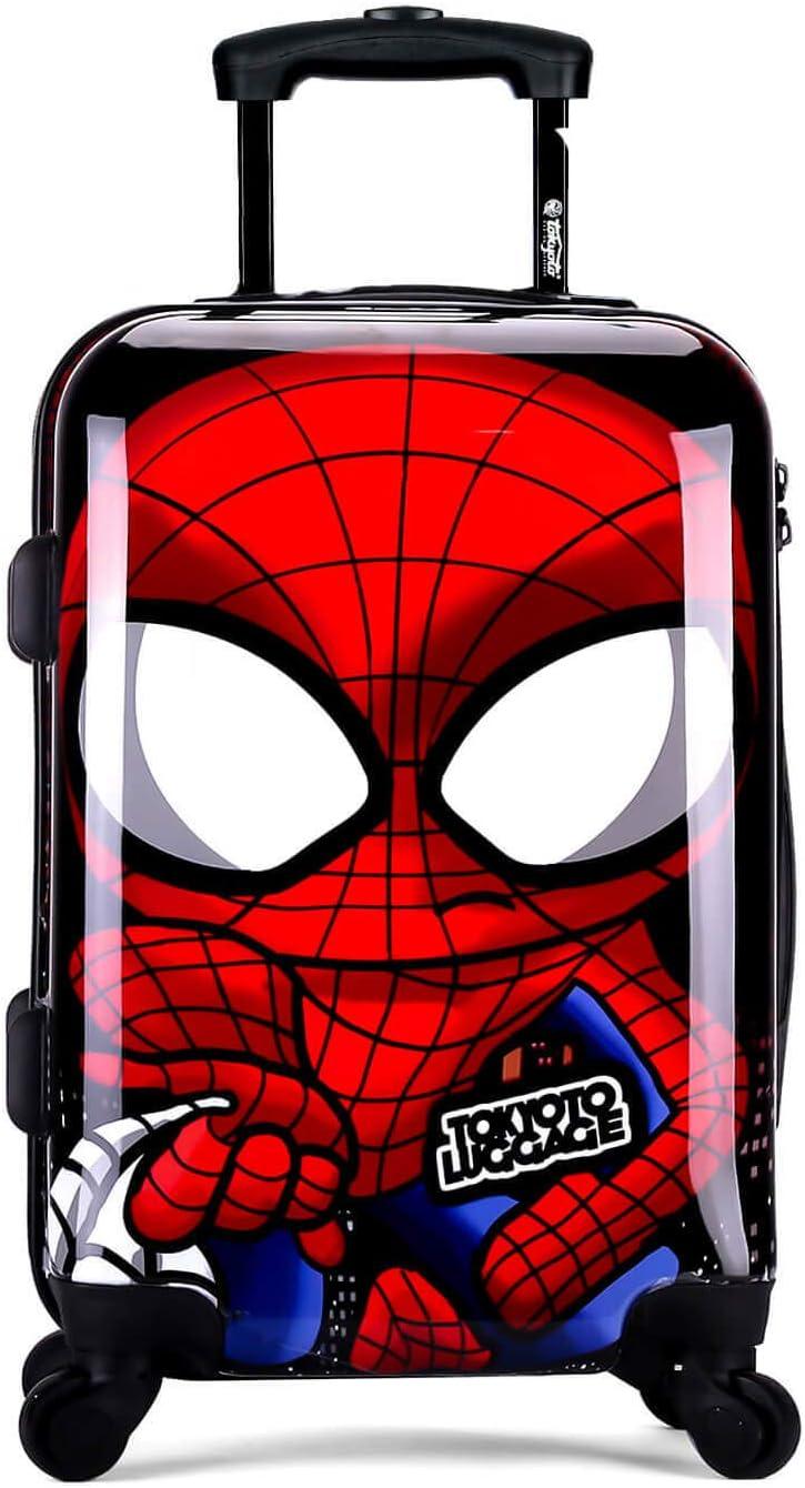 TOKYOTO - Maleta de Cabina Equipaje de Mano Spider Boy, 55x40x20 cm | Maleta Juvenil, Trolley de Viaje Ryanair, Easyjet | Maleta de Viaje Rígida