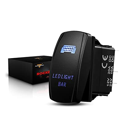 Auxbeam LED Light Bar Rocker Switch with Switching Lines for 12 / 24V Cars, Motorcycles, Buses, Boats, RVs, Trailers: Automotive