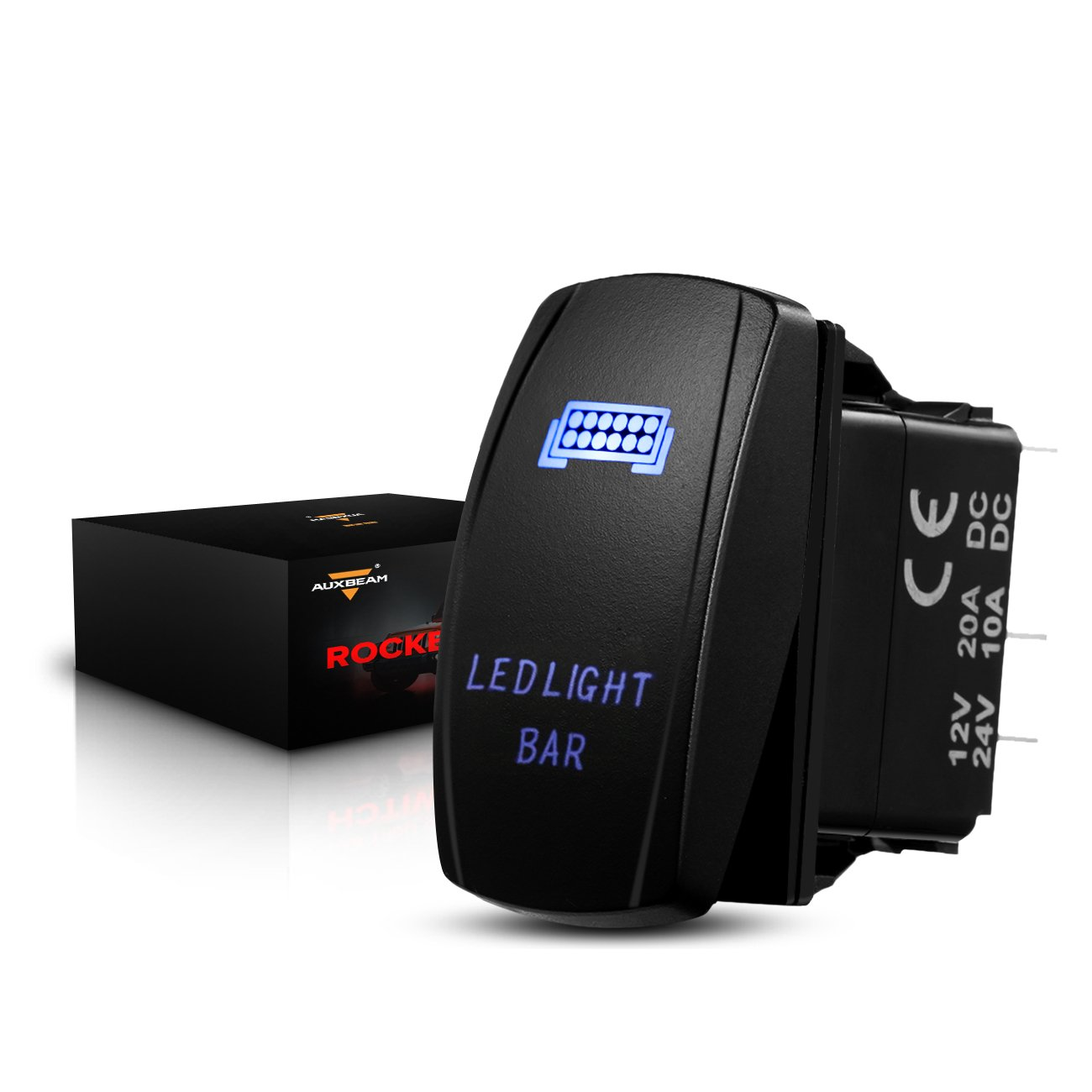 Auxbeam LED Light Bar Rocker Switch with Switching Lines for 12 / 24V Cars, Motorcycles, Buses, Boats, RVs, Trailers by Auxbeam (Image #1)