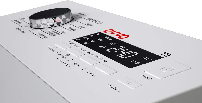 Lavadora de carga superior EVVO T8 / 8kg / 1200 rpm/A+++ / 4 años ...