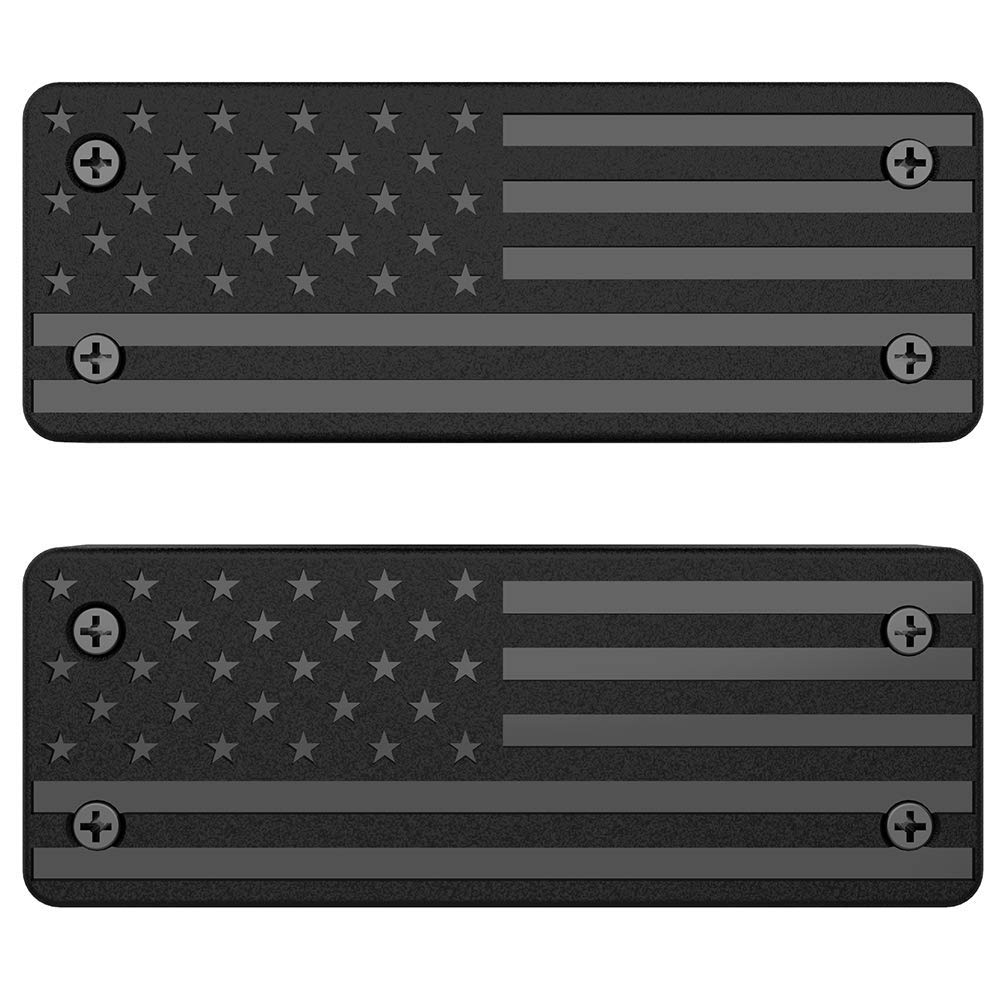 2 Pack Magnetic Gun Mount & Holster for Vehicle and Home - HQ Rubber Coated 40 Lb Rated Black by TacMount