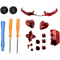 Colorful Screwdriver Set Elite Replacement LB RB Bumpers Triggers Buttons with Tools for Xbox One Elite Controller(Red)