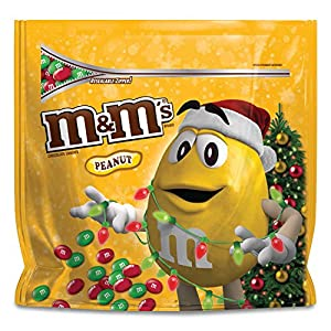 M&M'S Holiday Peanut Chocolate Candy Party Size 42-Ounce Bag