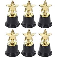 NUOBESTY 4 stuks trofeeën van kunststof ster prijs voor kinderen volwassenen feest feest sport home decor (goud)