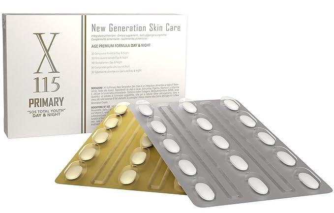 Antienvejecimiento, Antioxidante, Tabletas antiarrugas - Cara y Cuerpo - Cuidado de la piel - Productos Dietéticos - X115® Primary - Protege Contra el ...