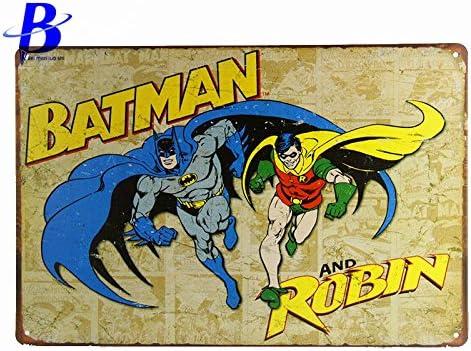 Siete Boutique varita decoratie Vintage Batman y Robin Vintage Tin ...
