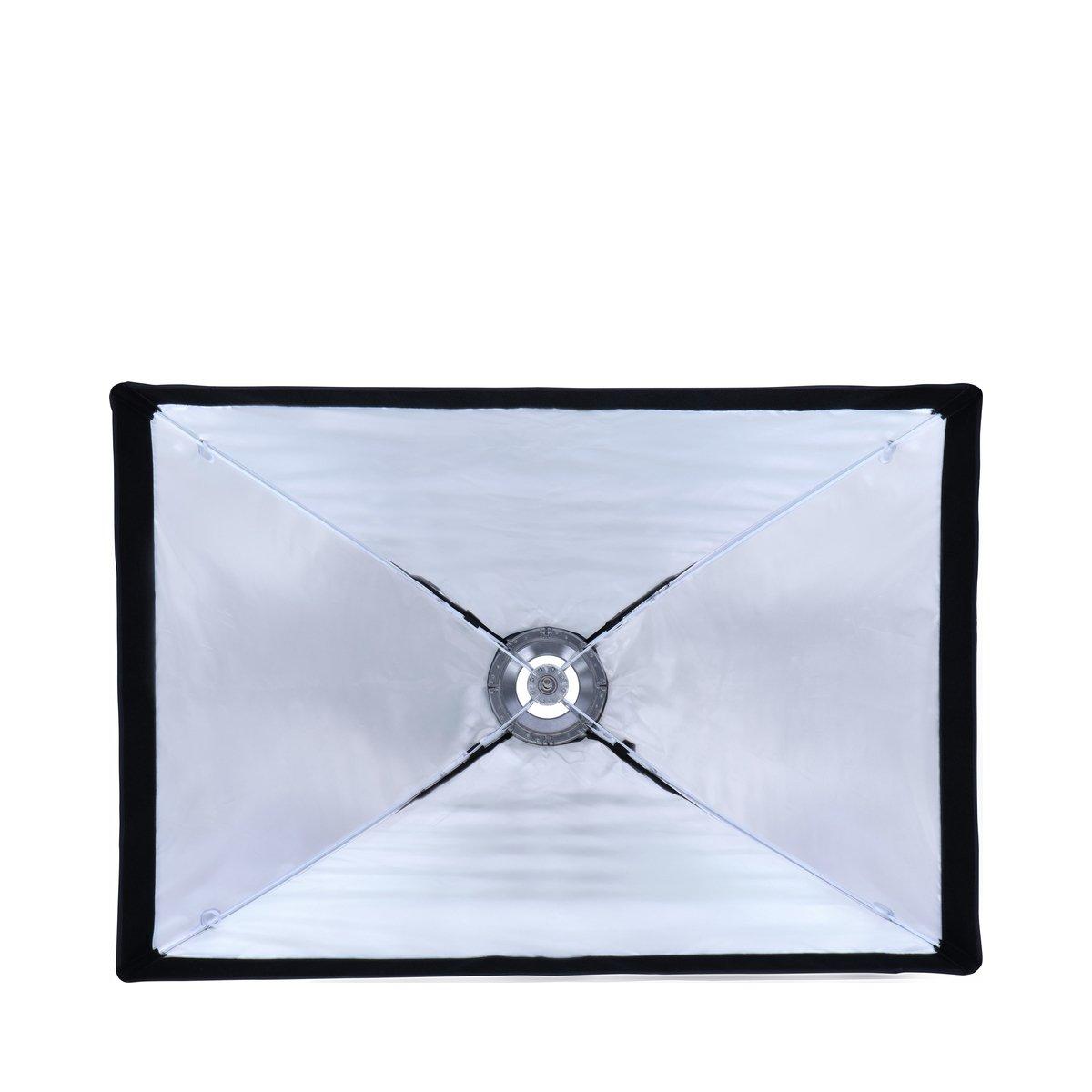 Incluye Panal Color Negro Grid para fotograf/ía de Retratos y Productos Rollei Octabox 90 cm de di/ámetro Visera Plegable con conexi/ón Bowens