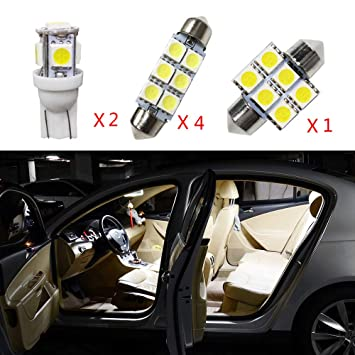Cobear para Sportage-R(Low Match) Super Brillante Fuente de luz LED Interior Lámpara de Coche Bombillas de Repuesto Blanco Paquete de 7: Amazon.es: Coche y ...