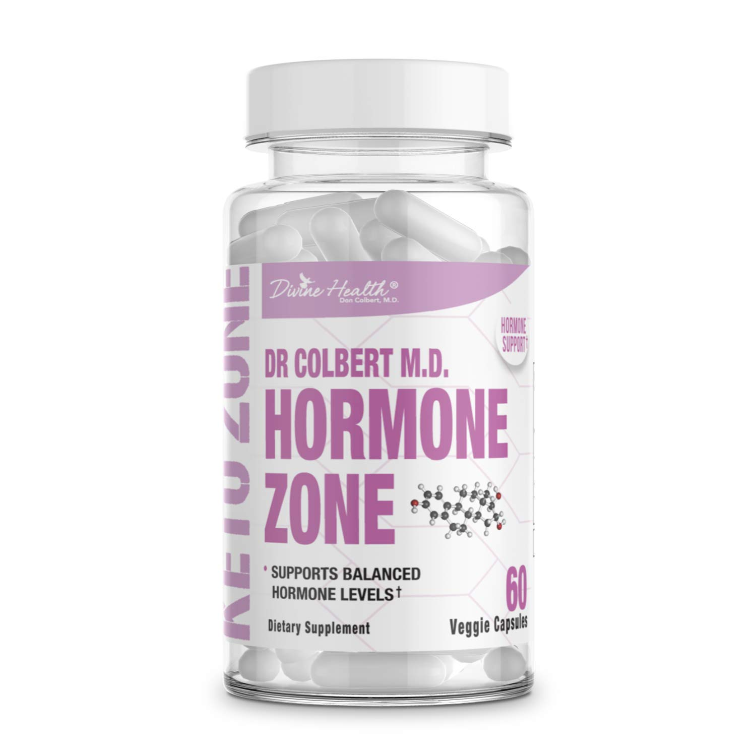 Divine Health Dr.Colbert's Hormone Zone for Health Hormone Levels Vitamins D3, K2 and Diindolylmethane (DIM)
