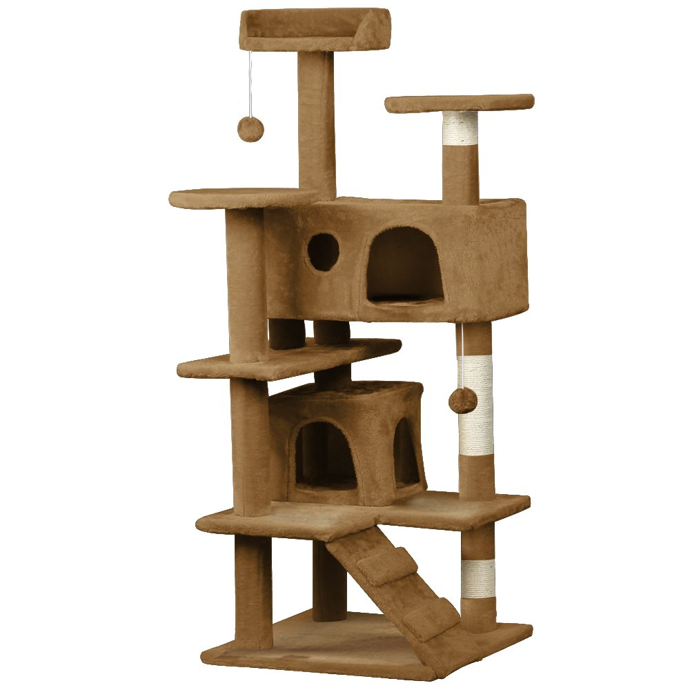 "World Pride 52"" Cat Tree Tower Condo Furniture Scratch Post Kitty Pet House Play House"