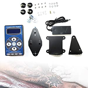 Hurricane Pro Black HP-2 Tattoo Power Supply Digital Dual LCD Display Machines Blue