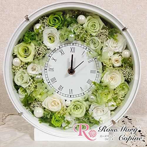 プリザーブドフラワー 時計 フレームアレンジ 花時計 afc-009 B00PZFHB34
