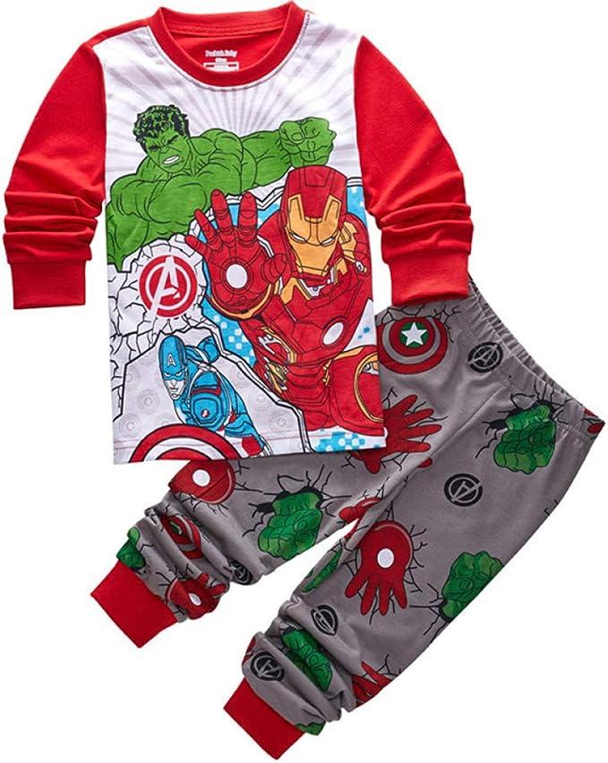 CDREAM Iron Man Pijamas Niños Ropa De Dormir Ropa De Dormir ...