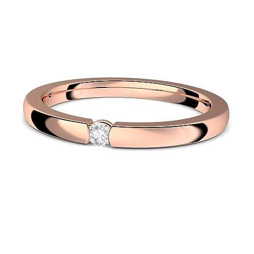 Spannring Rosegold Silber 925 Hochwertig Vergoldet Verlobungsring