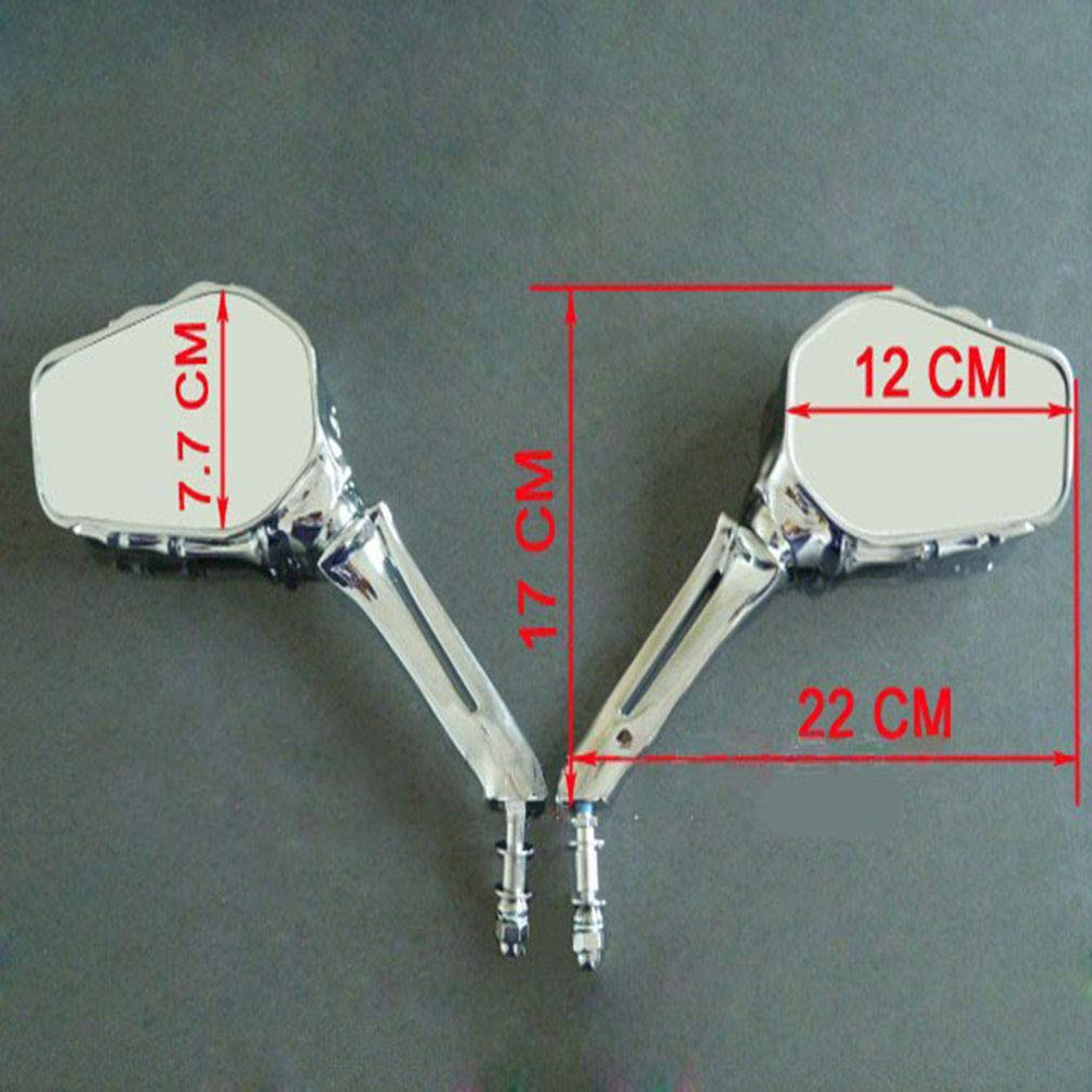 Moto Universal Skull alliage daluminium R/étroviseurs Squelette Pour Suzuki Intruder Volusia//Yamaha//Honda Shadow Noir