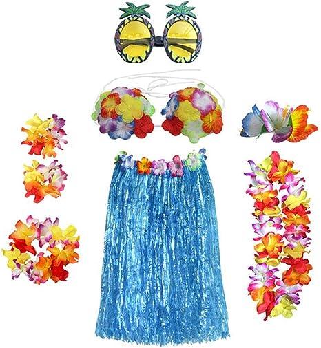 Toyvian Hawaiana Disfraces Falda Hawaiano Traje de Hula Falda de ...
