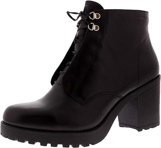 Womens Vagabond Grace Black Leather Fashion Work Block Heel
