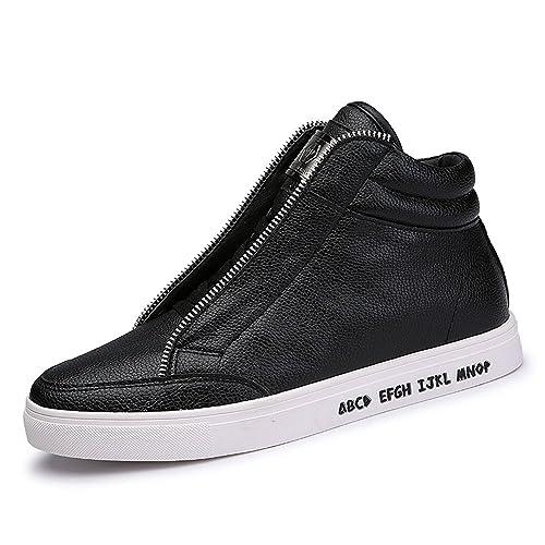 SITAILE Uomo High Top Scarpe da Ginnastica Basse Sportive Outdoor  Stivaletti Sneakers Stivali Nero Bianco  Amazon.it  Scarpe e borse c6107ef714b
