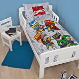 Marvel Comics Retro UK Junior/US Toddler Duvet Cover and Pillowcase Set