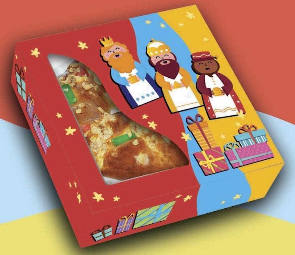 Dimoba Caja para Roscón de Reyes 32x32x8 cm. 50 ud.: Amazon.es: Hogar