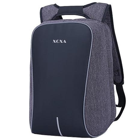 supamodern Unisex Nylon Antirrobo Mochila para portátil extraíble cambio mochila con tiras reflectantes bolsa de viaje