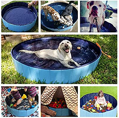Cacoffay Piscina portátil para Mascotas, Perros y Gatos Accesorio para Lavar la Tina de baño al Aire Libre Baño de Verano Plegable,S: Amazon.es: Hogar