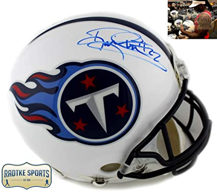 Derrick Henry Autographed Signed Tennessee Titans Riddell Authentic NFL  White Throwback Helmet 405893f8d