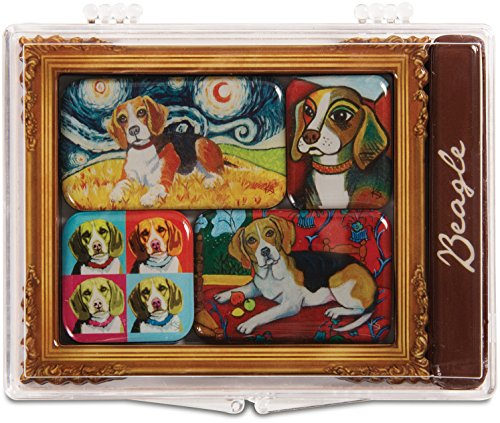 Pavilion Gift Company 12010 Paw Palettes 6-Piece Mini Masterpiece Magnet Set, 4 by 3-1/2-Inch, - Palette Magnet Artists