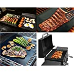 Silicone Baking Mat Set of 5 Non Stick 3 Silicone Baking Mats and 1 BBQ Grill Mat and 1 Basting Brush Professional Grade Non Stick Baking Sheet for Bake Pans & Rolling Silicone Oven Mat Baking Sheet 12 ❤This baking sheet is suitable for oven, microwave and refrigerator. Can be used at temperatures varying from -40 degree to 500℉ (260°C). High quality and durable, can be reused for up to 4000 times ❤Non-stick, easy to clean, just wash with soap and water, rinse, shake off water and air dry. No oil, sprays or parchment paper needed ❤Made with silicone-coated fiberglass mesh, these professional-grade mats provide evenly spreaded heating. You get consistent, delicious results - no burned or undercooked spots!