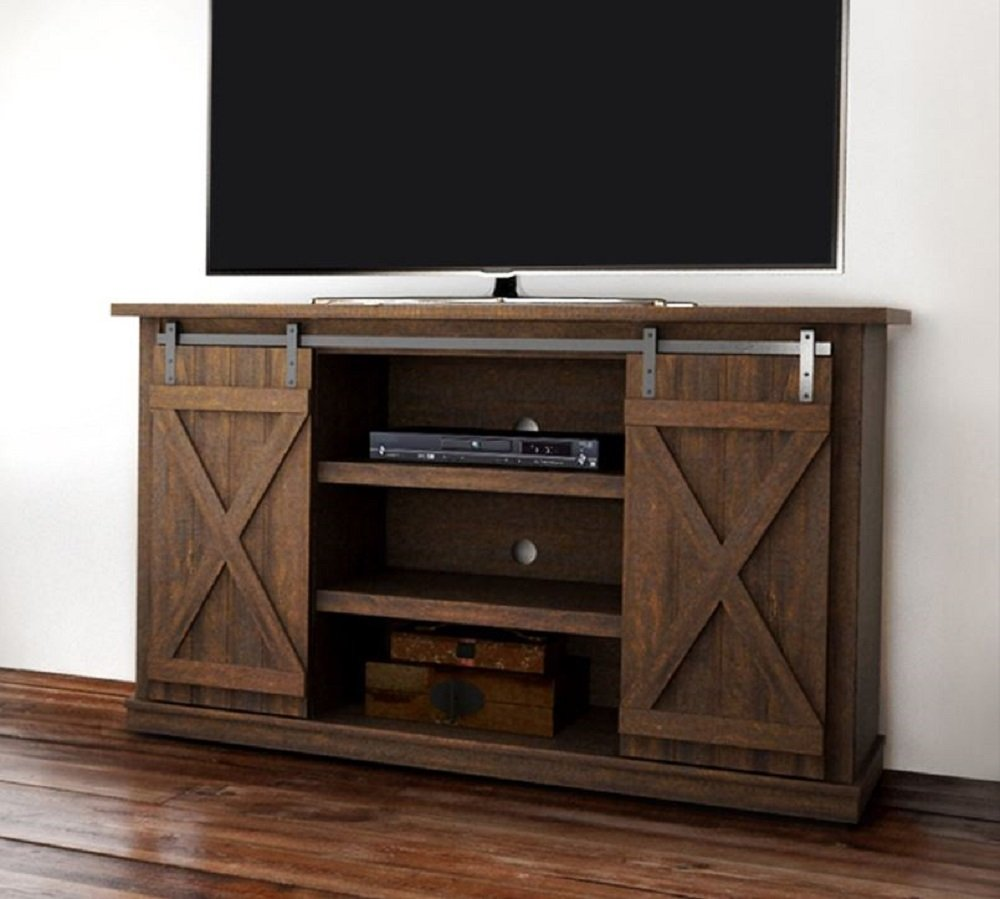 Bluestone Rustic Wood 54 TV Stand Espresso