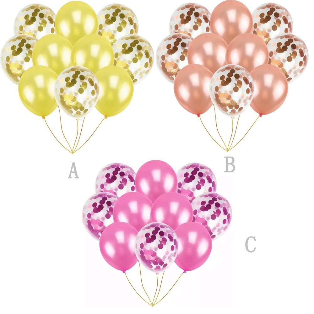 Amazon.com: Globos de confeti Neartime de 11.8 in, 10 ...
