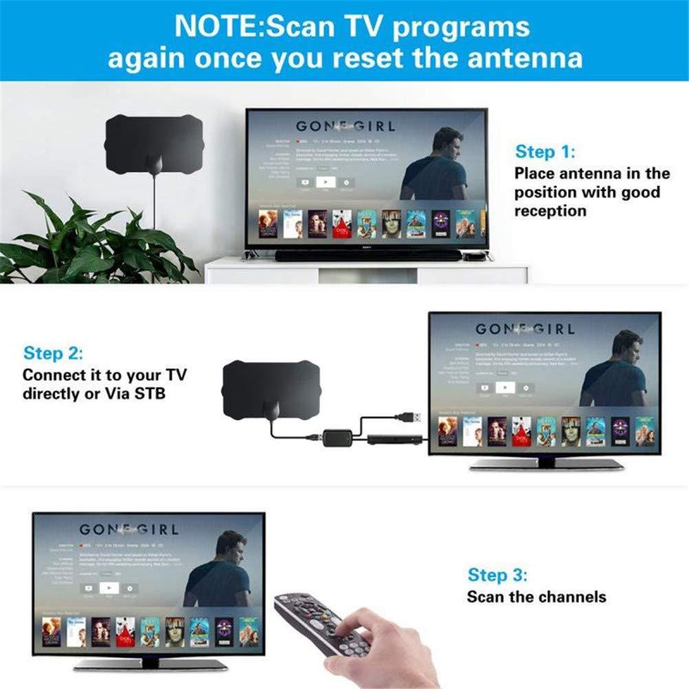 Amazon.com: Tv Antena 1080p Digital HDTV Antena 120 Millastvinterior ...