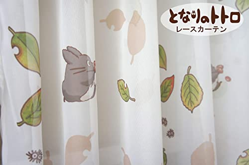 Cosmo Voile Lace Curtain My Neighbor Totoro 100×133 2 Pcs Set 10005