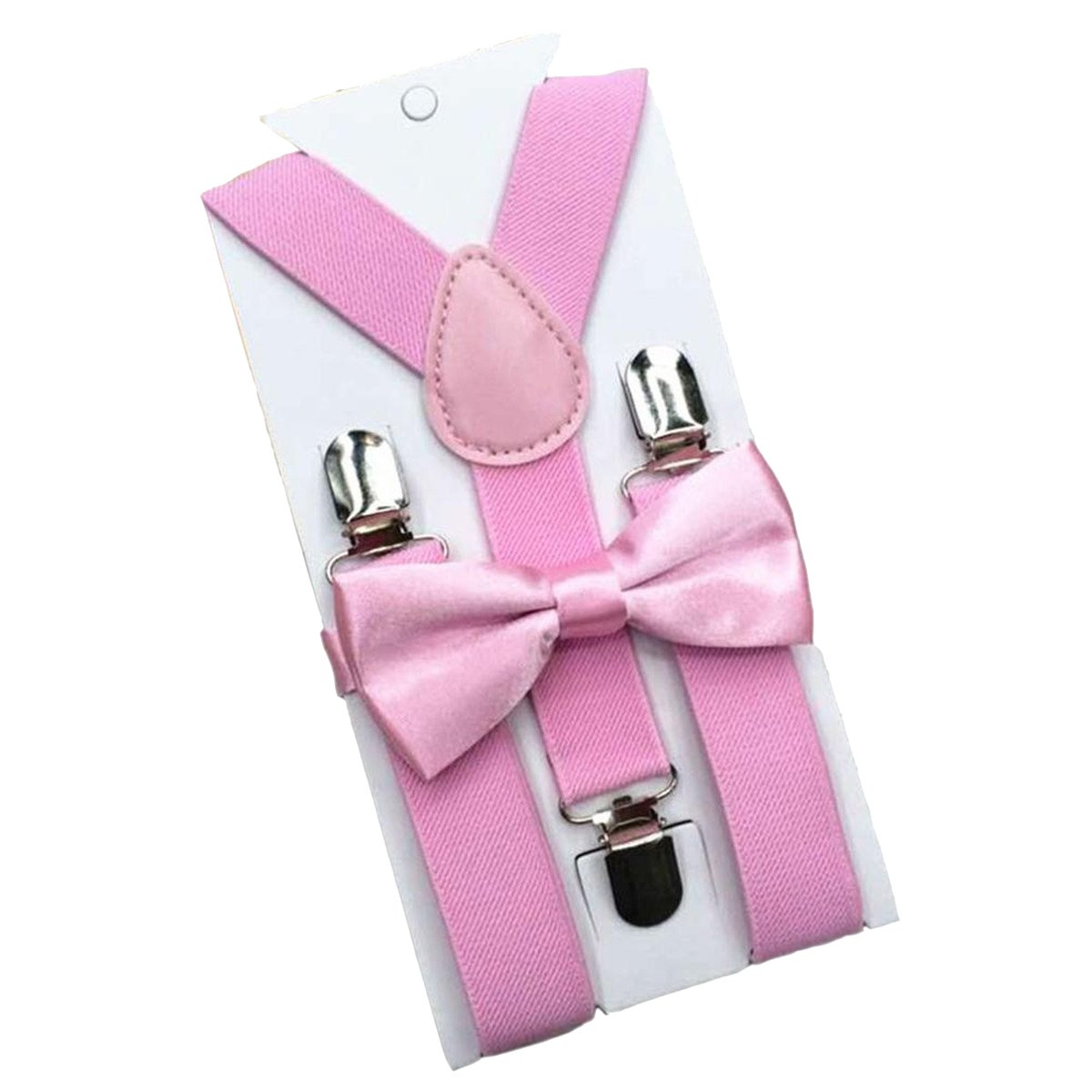 ECYC® Fashion RéGlable Elastic Boys Girls Suspenders Bow Tie Enfant Braces