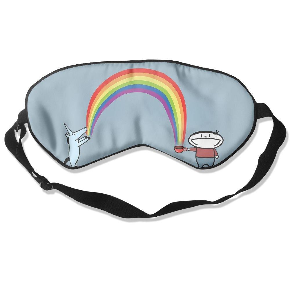 Sleep Mask Fun Unicorns Eye Cover Blackout Eye Masks,Soothing Puffy Eyes,Dark Circles,Stress,Breathable Blindfold