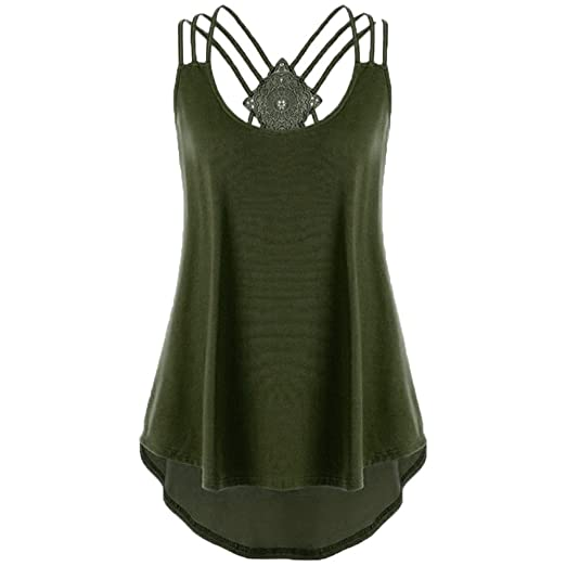 52ff83a7519 Ghazzi Women Pleated Scoop Neck Sleeveless Summer Tank Tops Ladies Plain  Casual Vest Blouse