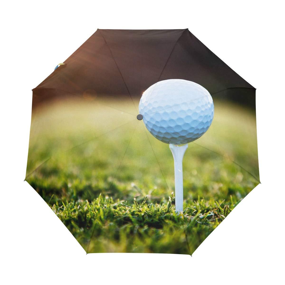 WXLIFE ゴルフボール スポーツ サンセット ガラス 自動折りたたみ 防風 紫外線対策 旅行 女の子 キッズ メンズ   B07GWHWRXC