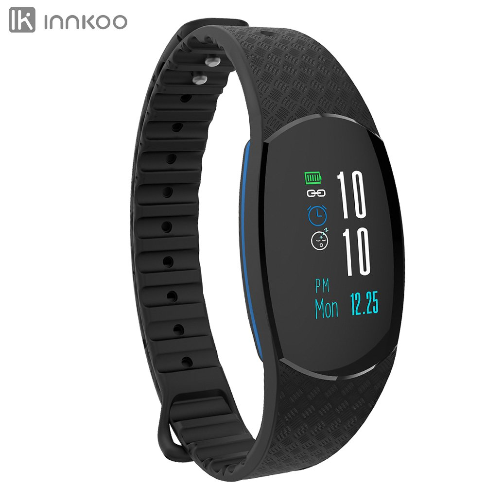 Waterproof Fitness Tracker Watch with Color Screen Heart Rate and Blood Pressure Monitor, INNKOO 09U_C Activity Tracker Pedometer Step Calories Counter Smart Bracelet Wristband Sports Band Sleep Track