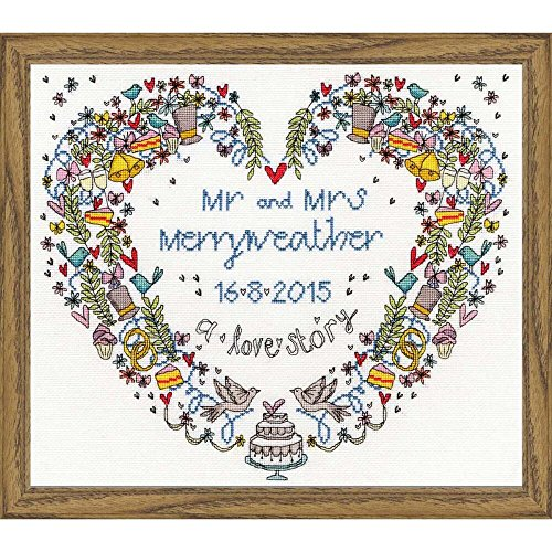 Heart Wedding Sampler (Bothy Threads Wedding Heart Cross Stitch Kit)