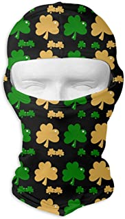 deyhfef ST Patricks Day Shamrock Clover Balaclava UV Protection Windproof Ski Face Masks for Cycling Outdoor Sports Full Face Mask Breathable Multi