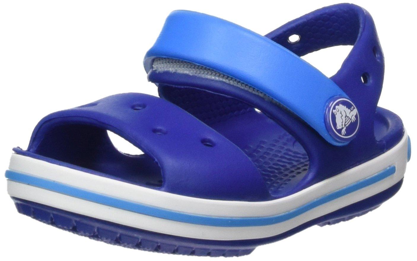 Crocs Unisex-Kids Crocband Sandal, Cerulean Blue/Ocean, 2 M US Little Kid
