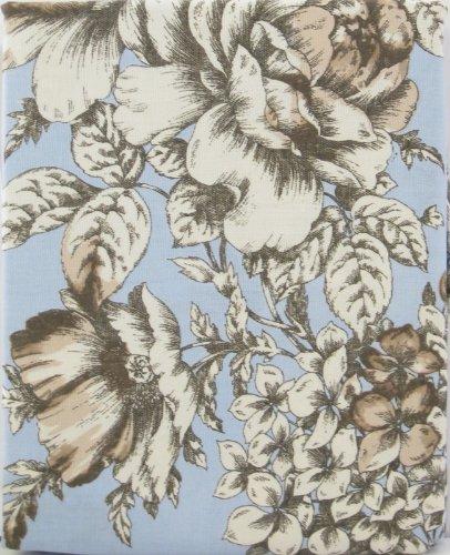Laura Ashley Cotton Fabric Shower Curtain Bancroft Toile