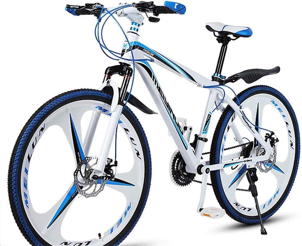 WFIZNB Bicicleta de Montaña Marco de Acero al Carbono Rueda de 26 Pulgadas 27 Velocidad Bicicleta de Cross Country Bicicleta Estudiante BMX Bicicleta de Carretera Speed de automovilismo